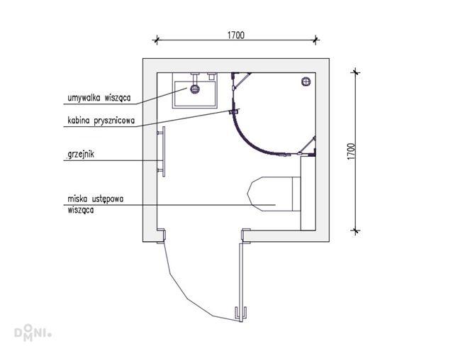 Rzut łazienki kwadratowej 170x170.jpg