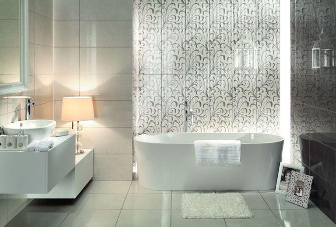 Łazienka z ornamentami Tubądzin Gobi
