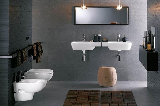 Aranżacja łazienki z podwieszaną ceramiką Koło Style