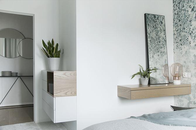 detale sypialni - komoda i toaletka