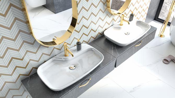 Umywalka Cerastyle Nova - łazienka dla dwojga
