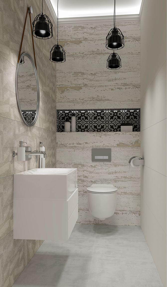 Aranżacja łazienki w płytkach Azario Nevesta