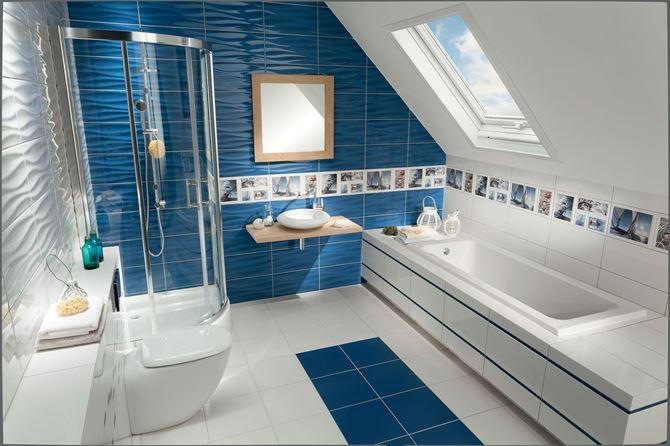 Łazienka w stylu marinistycznym Domino Joy Wave