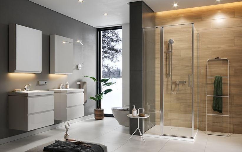 Rodzinna łazienka w stylu nowoczesnym