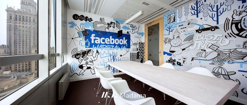 Projekt biura warszawskiego oddziału Facebooka - Madama