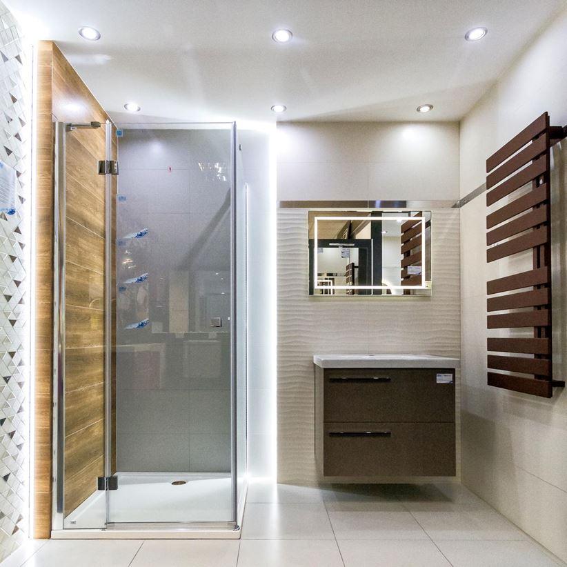 łazienka W łagodnych Barwach Szarości Beże I Drewno