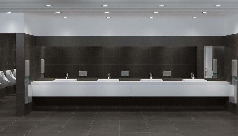 Minimalistyczna toaleta publiczna