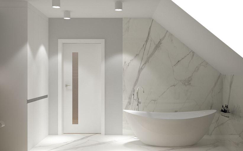 Marmurowa łazienka Z Wanną Wolnostojącą Domnipl