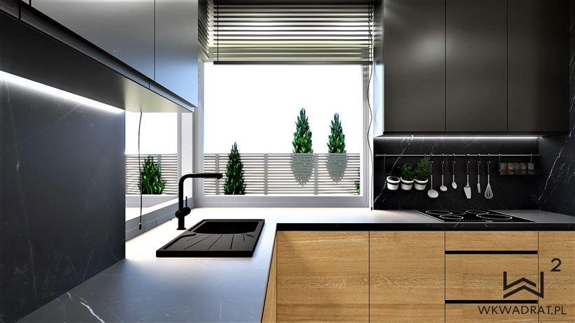 Kuchnia w projekcie Wkwadrat