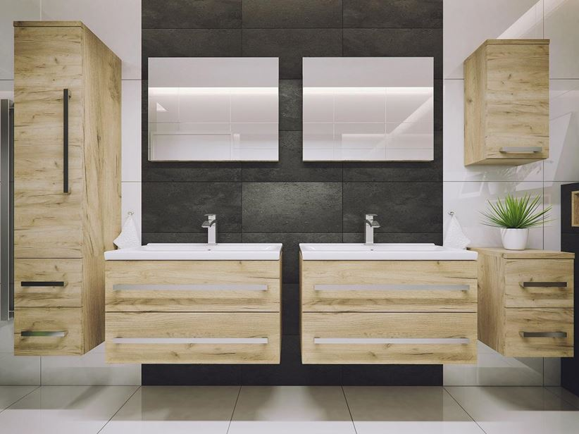 Łazienka z drewnem Defra Granada