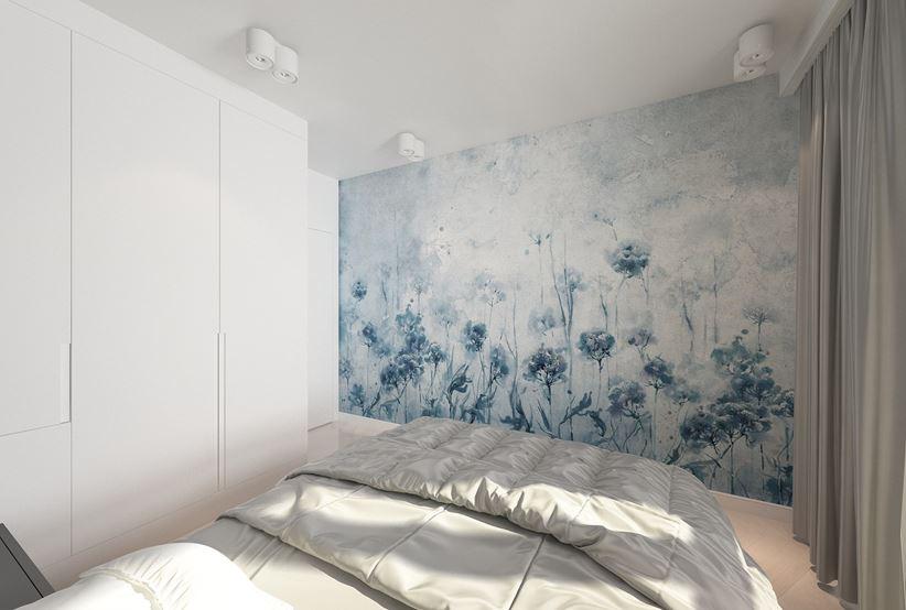 Minimalistyczna mała sypialnia