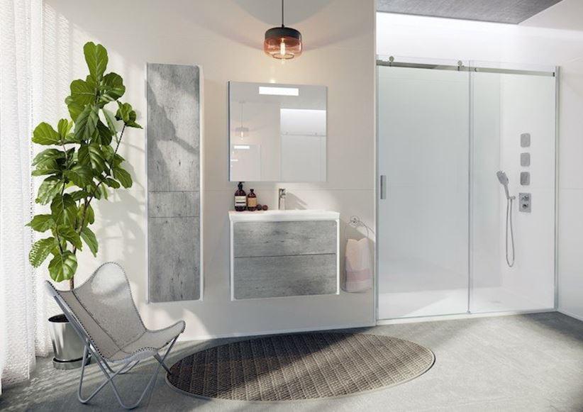 Nowoczesna łazienka w szarych kolorach
