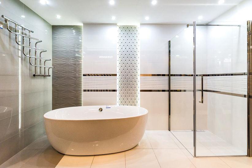 Aranżacja łazienki W Kolekcji Tubądzin Abisso Domnipl