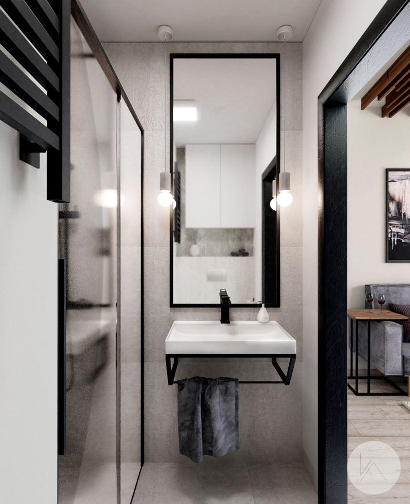 Malutka łazienka z prysznicem