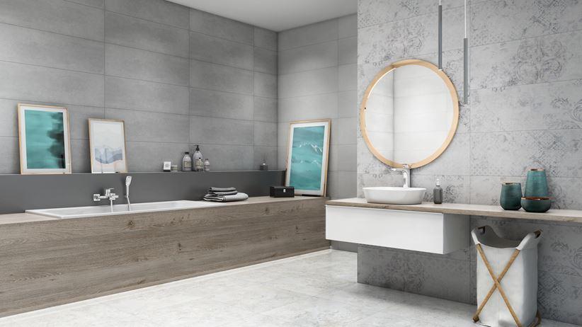 Łazienka w szarościach nowoczesnej stylizacji