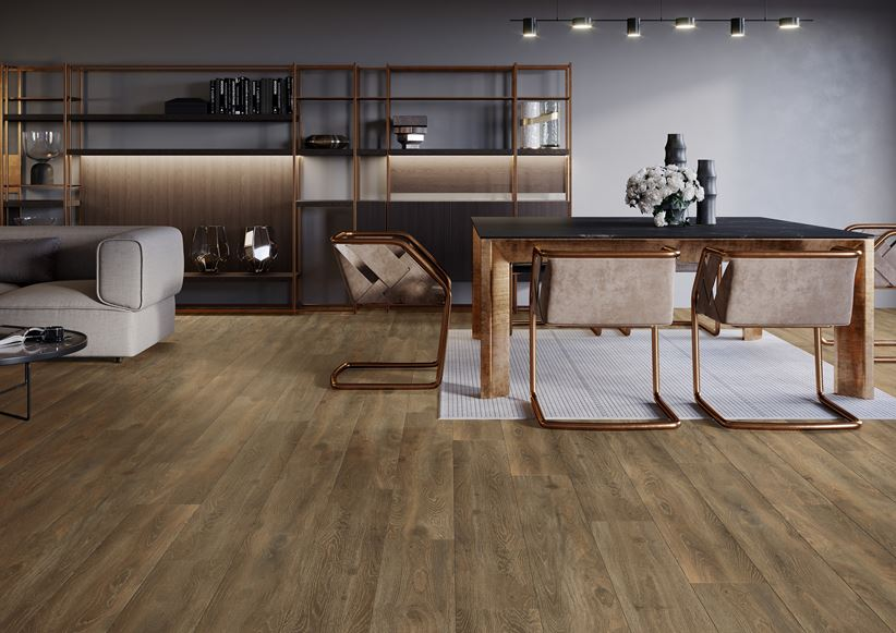 Stylowy, przestronny salon Cerrad Libero marrone