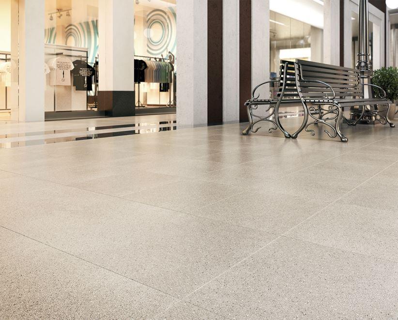 Podłoga w centrum handlowym Nowa Gala Quarzite