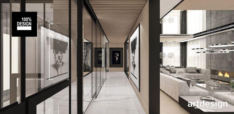 Szkło i sztuka w nowoczesnym przedpokoju