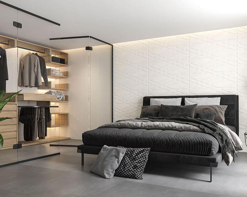 Aranżacja sypialni z garderobą