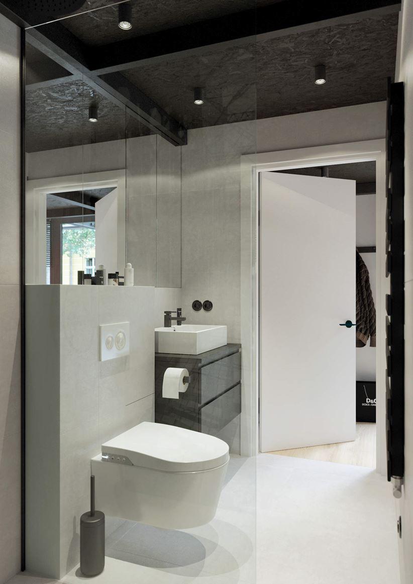 Łazienka w małym lofcie