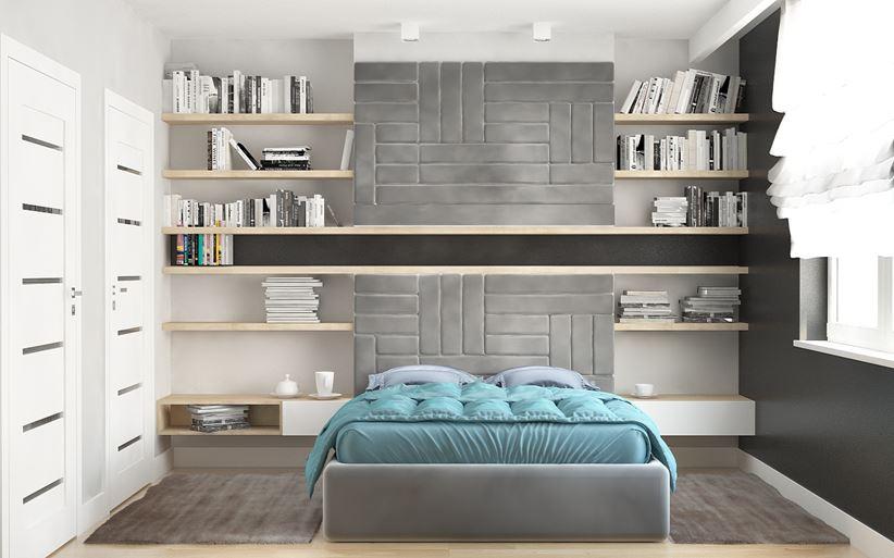 Półki zawieszane nad łóżkiem