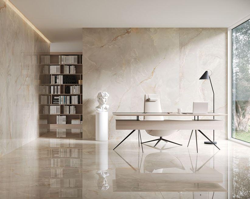 Domowe biuro w stylu glamour