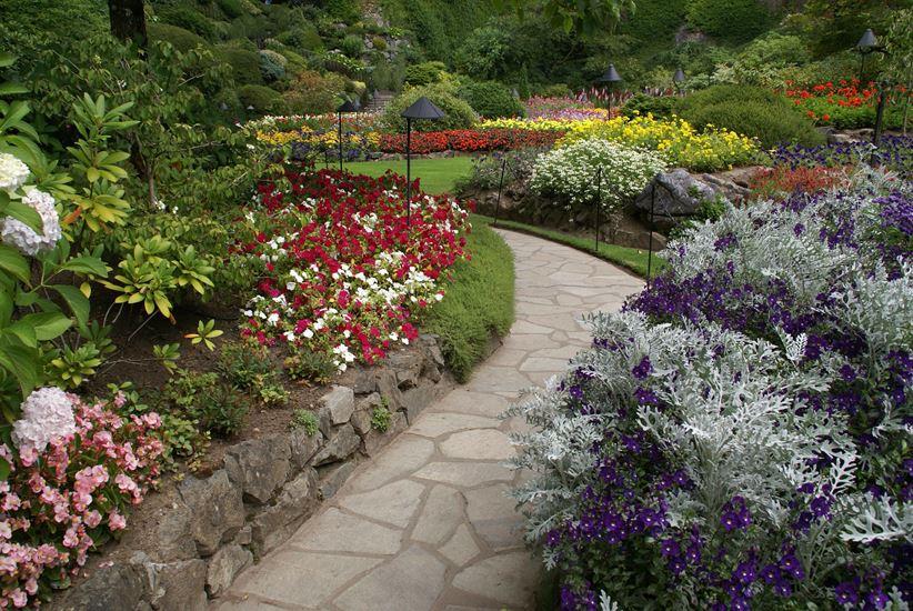 Ścieżka z odpadów kamiennych w ogrodzie