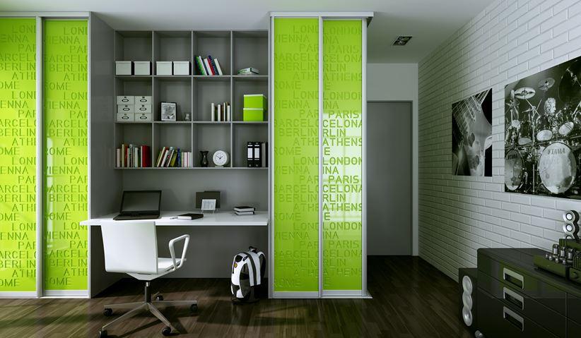 Szaro-zielony pokój nastolatka