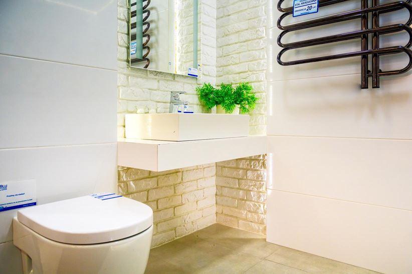 Kamień Dekoracyjny Loft Brick W Aranżacji łazienki Domnipl