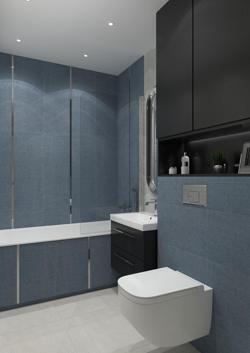 Niebiesko Szara łazienka W Kolekcji House Of Tones Marki