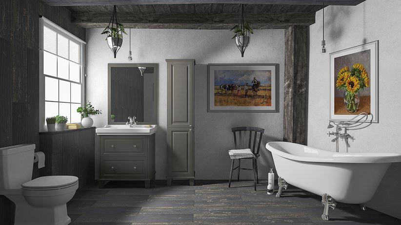 łazienka W Stylu Rustykalnym Paradyż Herrera Domnipl