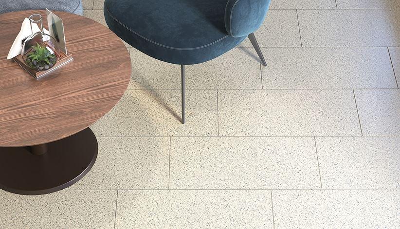 Kamienna podłoga w restauracji