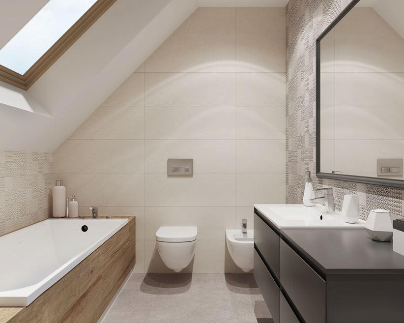 Stonowana łazienka Pod Skosami Domnipl