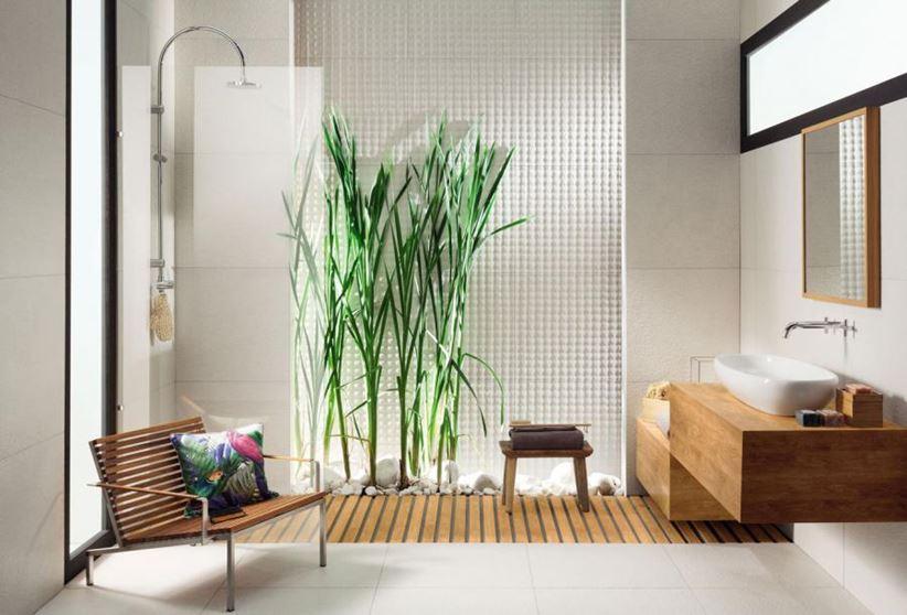 Łazienka ze strefą relaksacyjną Tubądzin Graniti