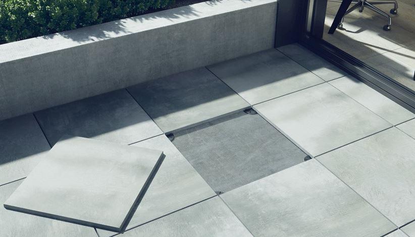 Szare betonowe płyty Opoczno