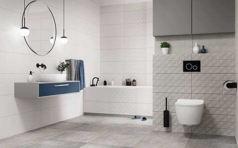 Aranżacja nowoczesnej łazienki w płytkach Vijo Sumat