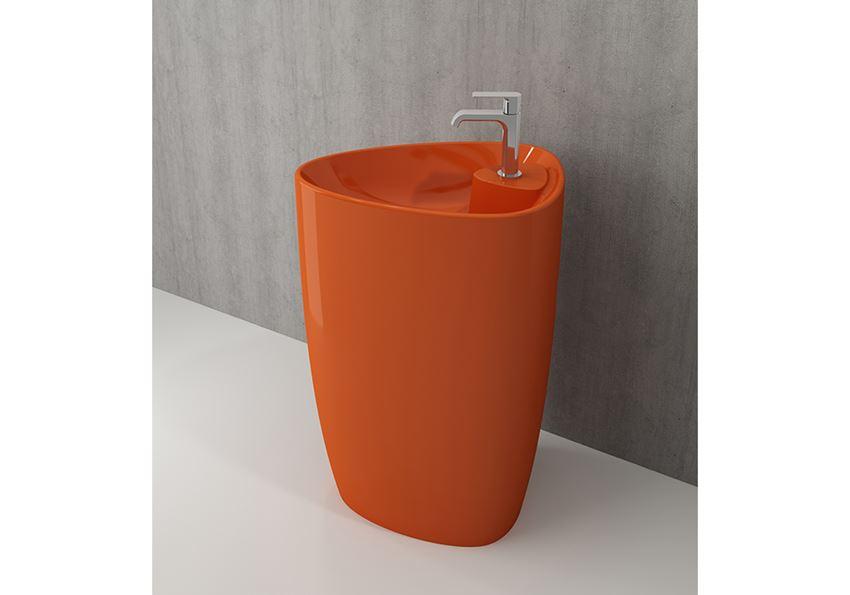 Umywalka monoblok Glossy Orange Bocchi Etna