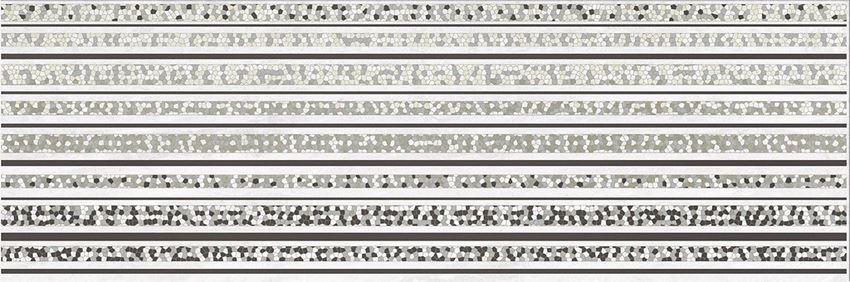 Płytka dekoracyjna 25x75 cm Opoczno Mirror Grey Inserto Lines