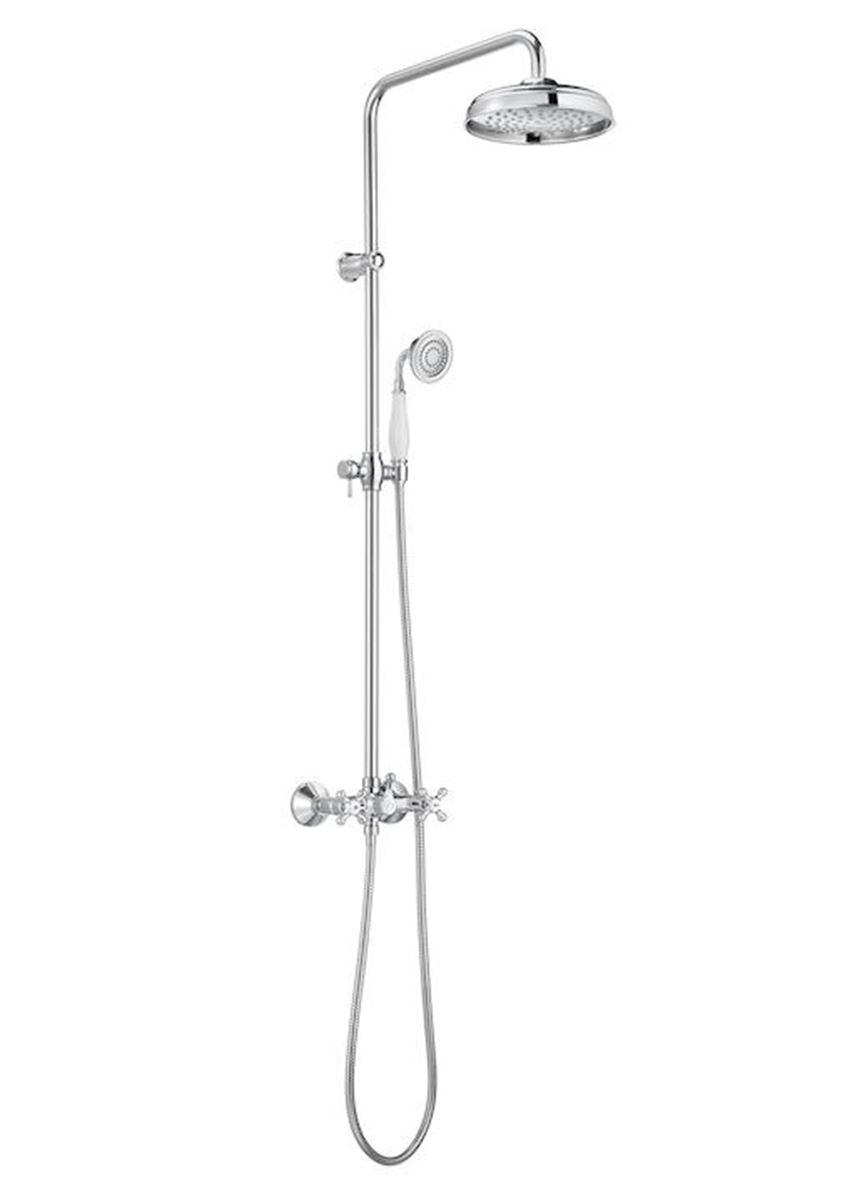 Kolumna prysznicowa z baterią dwuuchwytową deszczownicą i słuchawką Roca Carmen