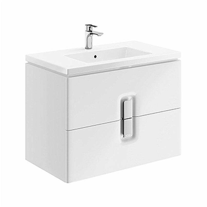 Szafka pod umywalkę 2 szuflady 80x57x46 cm biała Koło Twins
