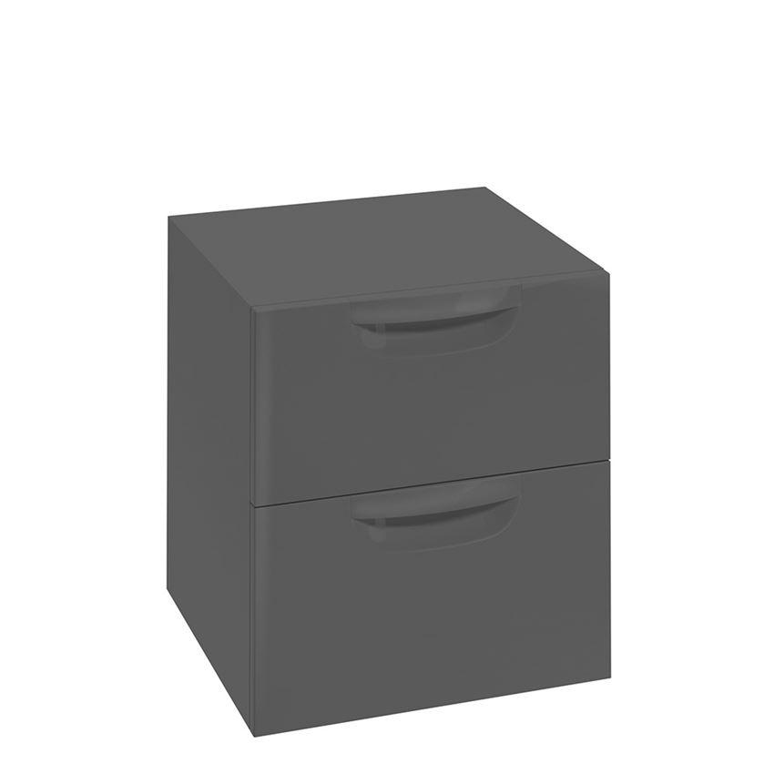 Szafka wisząca grafit połysk 45,1x50x42,8 cm Defra Flou B45