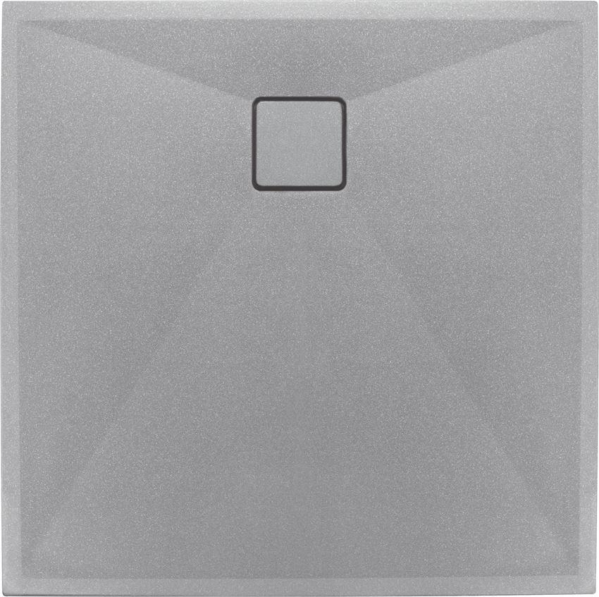 Brodzik kwadratowy granitowy szary metalik 90 cm Deante Correo