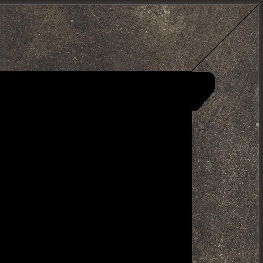 Płytka cokołowa 8,1x30 cm  Paradyż Scandiano Brown Cokół 2 El.-Prawy