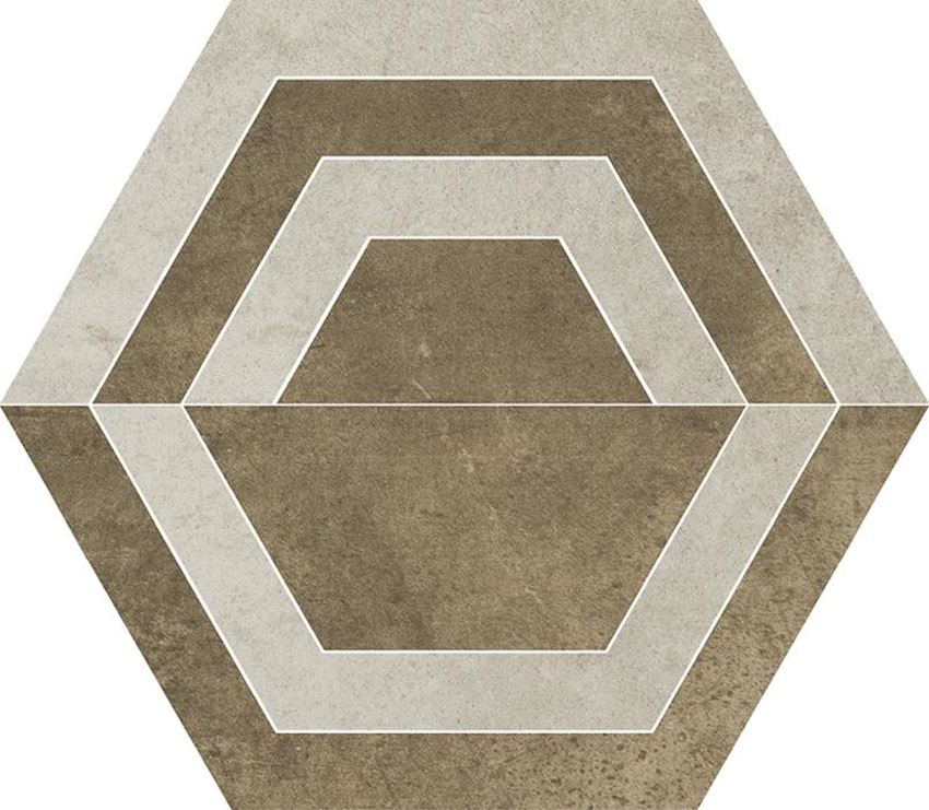 Dekoracja podłogowa Paradyż Scratch Beige Heksagon C