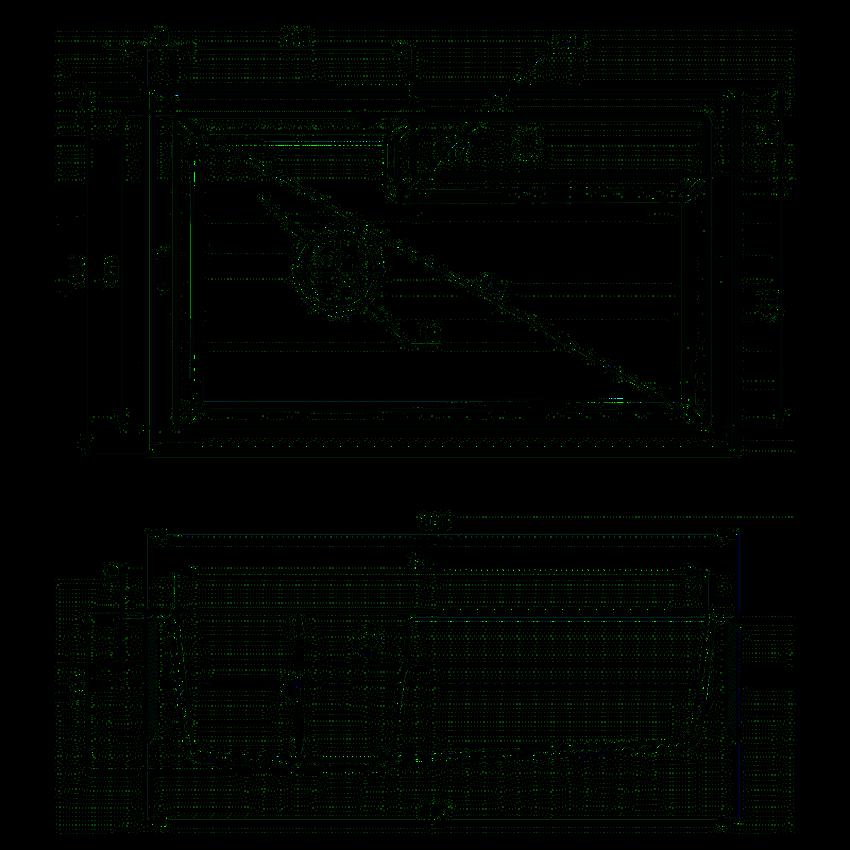 Zlewozmywak 1-komorowy bez ociekacza Deante Eridan rysunek techniczny