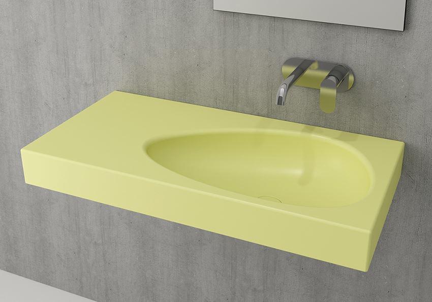 Umywalka ścienna/meblowa/nablatowa Matte Yellow Bocchi Etna