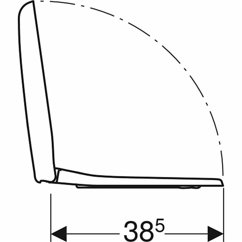 Deska sedesowa owalna Koło Nova Pro rysunek