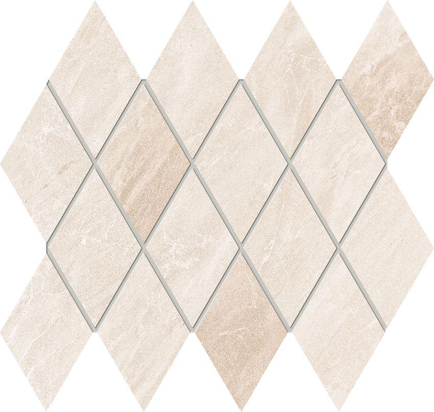 Mozaika ścienna 26,2x21,8 cm Domino Jant white