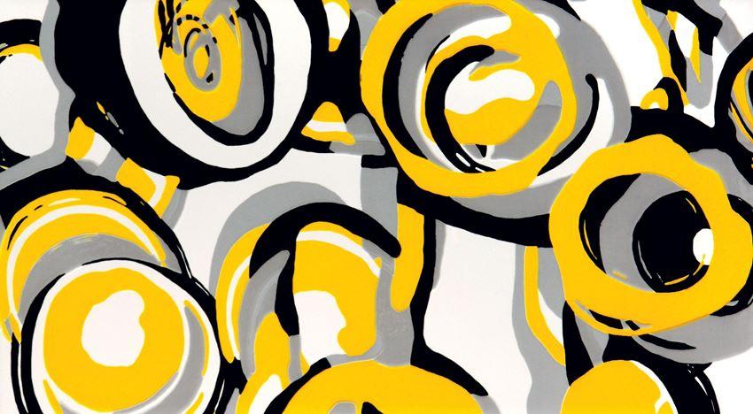 Dekor ścienny Tubądzin Colour Hoop Yellow