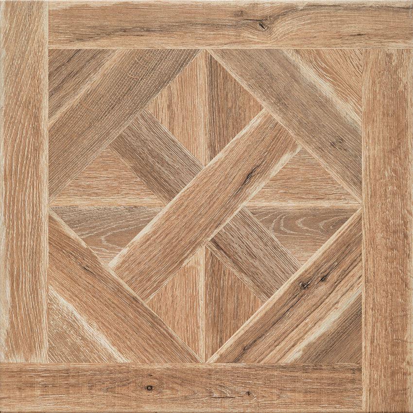 Płytka podłogowa gres szkliwiony 61x61 cm Domino Astillo wood